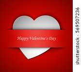 happy valentine's day greeting... | Shutterstock .eps vector #569507236