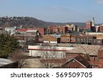 Skyline of Marietta in spring, USA, Ohio