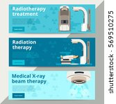 radiation therapy vector web... | Shutterstock .eps vector #569510275