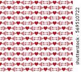valentine seamless pattern.... | Shutterstock .eps vector #569510722