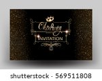 vip party sparkling invitation... | Shutterstock .eps vector #569511808
