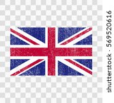 grunge great britain flag.... | Shutterstock .eps vector #569520616
