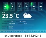 weather icons and widget     Shutterstock .eps vector #569524246