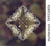 vintage frame for luxury logos  ... | Shutterstock .eps vector #569526856