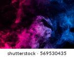 Colorful Smoke On Dark...