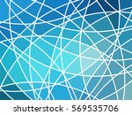 abstract geometric mosaic... | Shutterstock .eps vector #569535706