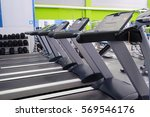 interior of a fitness hall with ... | Shutterstock . vector #569546176