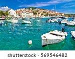 turquoise waterfront of hvar... | Shutterstock . vector #569546482