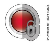 sticker circular button with... | Shutterstock .eps vector #569546836