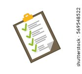 checklist document isolated... | Shutterstock .eps vector #569548522