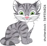 Stock vector grey cat 569556826
