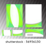 ecological corporate green... | Shutterstock .eps vector #56956150