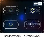 set of futuristic blue... | Shutterstock .eps vector #569563666