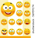 little cute smiles | Shutterstock .eps vector #56959174