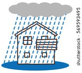 home and natural disaster ...   Shutterstock . vector #569593495