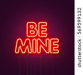 Be Mine   Neon Sign A Purple...