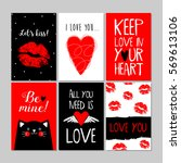 set of red  black  white... | Shutterstock .eps vector #569613106