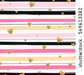 pink and yellow valentines day... | Shutterstock .eps vector #569613382