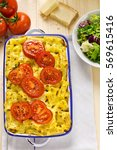 Small photo of Cheese macaroni with tomatoes