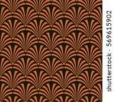 seamless black and orange... | Shutterstock .eps vector #569615902