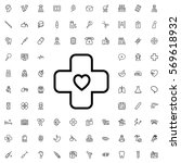 bandage icon illustration... | Shutterstock .eps vector #569618932