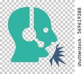 cobalt and cyan operator speech ... | Shutterstock .eps vector #569619388