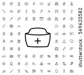 nurse hat icon illustration... | Shutterstock .eps vector #569620582