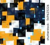 seamless pattern. stylized... | Shutterstock .eps vector #569625226