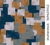 seamless pattern. stylized... | Shutterstock .eps vector #569625412