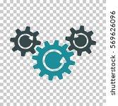 soft blue transmission wheels... | Shutterstock .eps vector #569626096