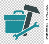 soft blue toolbox toolbar icon. ... | Shutterstock .eps vector #569628022