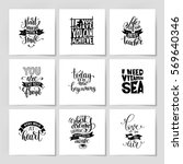set of handwritten lettering...   Shutterstock .eps vector #569640346