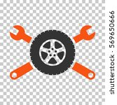 orange and gray tire service... | Shutterstock .eps vector #569650666