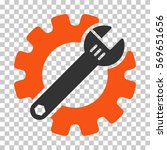 orange and gray service tools... | Shutterstock .eps vector #569651656