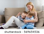 teaching them about modern... | Shutterstock . vector #569654536