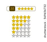 five stars rating icon. vector... | Shutterstock .eps vector #569656732