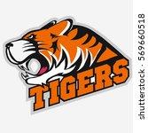angry tiger sport team emblem ...   Shutterstock .eps vector #569660518