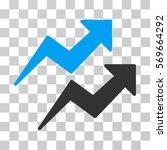trends icon. vector... | Shutterstock .eps vector #569664292