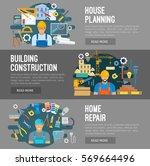construction  home repair ... | Shutterstock .eps vector #569664496