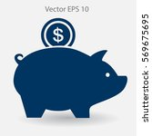 piggy bank for the money vector ...