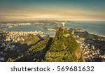 aerial view of botafogo bay... | Shutterstock . vector #569681632
