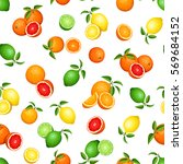 vector seamless pattern with... | Shutterstock .eps vector #569684152