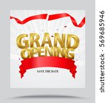 grand opening background with... | Shutterstock . vector #569685946