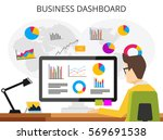 business analyst. professional... | Shutterstock .eps vector #569691538