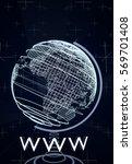 world wide web  www concept... | Shutterstock . vector #569701408