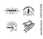 thank you text lettering vector ...   Shutterstock .eps vector #569702458