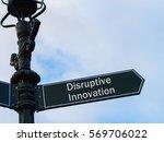 street lighting pole with... | Shutterstock . vector #569706022