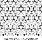abstract seamless geometries... | Shutterstock .eps vector #569708182