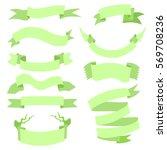 vector set of light green ... | Shutterstock .eps vector #569708236