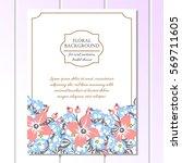 romantic invitation. wedding ... | Shutterstock .eps vector #569711605